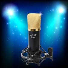 K-700 Black Condenser Microphone Home Recording Sound Studio Mic+ Shock Mount
