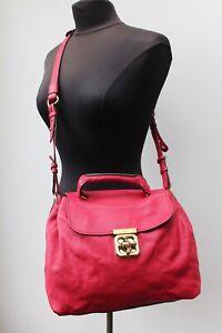 Chloe Elsie Satchel Bag in Red, Signature Lock. Dustbag and Paperwork