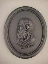 Wedgwood Black Basalt Portrait Of Anacreon Medallion 1780 -1795