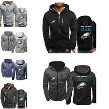 Philadelphia Eagles Sport Hoodie Zipper Sweatshirt Jacket Football Casual Coat