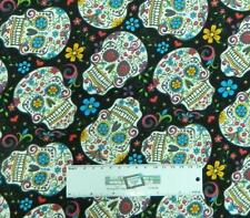 Patchwork Quilting Fabric SUGAR SKULLS Sewing Material Cotton FQ 50X55cm NEW