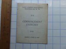 1948 Commencement Exercises Program. St. Joseph's High Sch. Martinsburg, W. Va.
