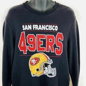 San Francisco 49ers 2013 NFL Long Sleeve Black Thermal Shirt Size LG