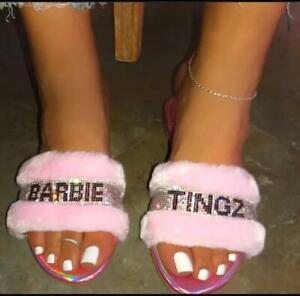 Barbie Tingz Bling Fur Slippers