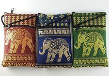 Handmade Thai Silk Cotton Embroidered Small Bag Strap Crossbody Coin Purse Gift