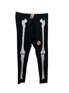F&F Ladies Skeleton Leggings Size 22 Black & White Stretch Fancy Dress Goth New