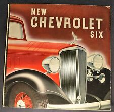 1933 Chevrolet Six Catalog Sales Brochure Excellent Original 33 Not A Reprint