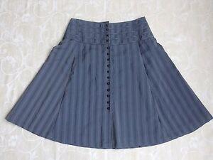 Privilege Grey A Line Skirt Women's Size 12