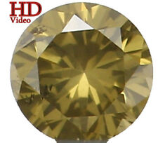 Natural Loose Diamond Round Si1 Clarity Yellowish Green Color 0.047 Ct KR548