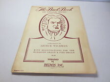 The Bach Book of Organ Music arranged by Arthur Wildman vintage Belwin songbook