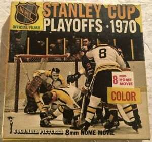 1970 Stanley Cup Playoffs BOSTON BRUINS Bobby ORR 8mm Film in ORIGINAL BOX Color