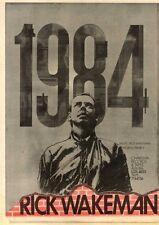 27/6/81PN16 POSTER ADVERT 15X11 RICK WAKEMAN : 1984 ALBUM