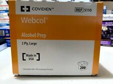 1 Box of 200 2-Ply LARGE Sterile Alcohol Prep Pad Wipes Topical Antiseptic