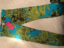 VERSACE FOR H&M HM TROPICAL PALM PRINT STRETCHY LEGGINGS. EUR 34 US 4