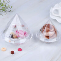 Transparent Diamond Shape Candy Box Clear Container Box for Wedding Home DecorBD