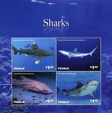 Tuvaluan Fish & Marine Animals Sheet Postal Stamps