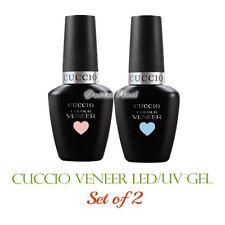CUCCIO Veneer SET OF 2 Gel Colors Soak Off LED UV Nail Kit Lot 13 mL/0.43 oz