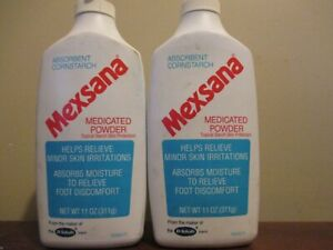 2x 11 OZ. LARGE SIZE - Mexsana Medicated Powder Topical Corn Starch Protectant