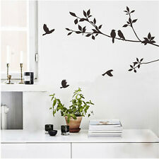 Vinyl Art Adjustable Wall Sticker Tree Branch Birds Mural Decal House Room Decor