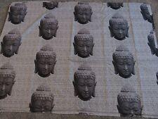 Gris Piedra Buda Artesanía Manualidades remanente de tela coser material Pieza 130x95cm