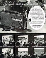 1930s BIG Original Vintage Cine Kodak K Movie Camera Sports Photo Print Ad