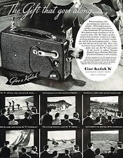 1934 BIG Original Vintage Cine Kodak K Movie Camera Sports Photo Print Ad