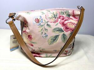 NWT Fossil Carolina Pink Floral Hobo Shoulder Bag