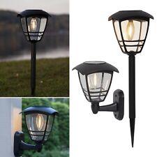 LED Solar Leuchte FILAMENT 10lm Wegeleuchte Wand-Lampe für Außen Garten