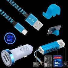 Car Charger + Card Reader + USB Cable + Holder For ZTE Zmax Pro Z981 Grand X 3 4