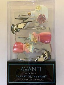 Avanti Dream Big Shower Curtain Hooks Fashion Set of 12 New