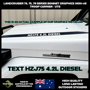 Toyota Landcruiser bonnet stickers graphics decals 70  75 78 series Troopy & Ute