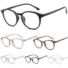 Oval Round Clear Lens Fashion Glasses Womens Mens
