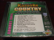 CHARTBUSTER KARAOKE COUNTRY HITS OF THE MONTH 60469R AUGUST 2011 CD+G 11 TRACKS