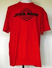 """NEW NWT Star Wars """"The Force Awakens"""" Red S/S 100% Cotton T-Shirt XL"""