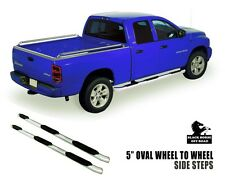 """Fits 2011 Dodge Ram 1500 Crew Cab 5"""" Oval Stainless Side Steps Wheel To Wheel"""