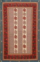 Vintage Geometric Traditional Oriental Area Rug Hand-Knotted Wool 3x4 Carpet