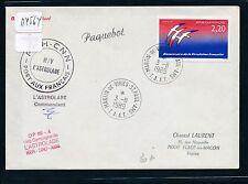 04564) Antarktis Frankreich TAAF 3.8.89 L'Astrolabe, signed, Paquebot