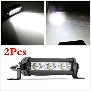 Waterproof 2PCS 30W LED Work Light Bar Car Offroad Work Bulb Headlight Fog Light