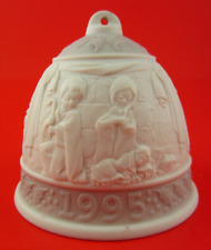 Vintage Lladro 1995 Christmas Nativity Bell Porcelain Ornament With Box Spain