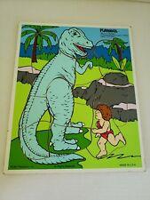 Vintage Playskool Definitely Dinosaurs Puzzle Tyrannosaurus & Thrax 11 pc