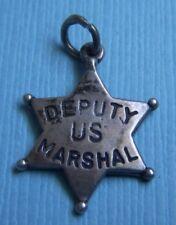 star badge sterling charm Vintage Us Deputy Marshal