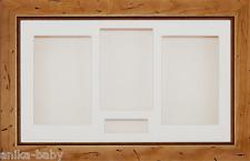 groß rustikal Kiefer 3d Kiste Displayrahmen creme Mount Sichern Objekte Baby