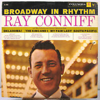 """12"""" 33 RPM MONO LP - COLUMBIA CL-1252 - BROADWAY IN RHYTHM by RAY CONNIFF (1959)"""