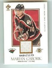 Marian Gaborik 2002-03 Private Stock Reserve Game-Worn Jersey Card #484/1175