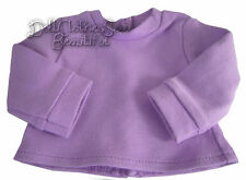 "Purple Long Sleeve T-Shirt Turtleneck for Bitty Baby + Twins 15"" Doll Clothes"