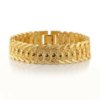 Watch link Men's Bracelet 18k Yellow Gold Filled 8 inch Chain Jewelry Gift