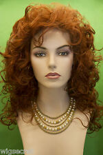 Red Long Medium Curly Wigs