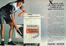PUBLICITE ADVERTISING 015  1981  RANK XEROX   photocopieur  ( 2pages)