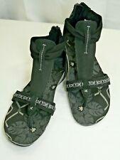 Cushe Clover Gladiator Sandals Black Zipper Heal Flats Womens 9US 7UK Ships Free