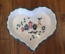 Valentines Day Country Decor Chaparral Pottery Ceramic Heart Shaped Serving Dish